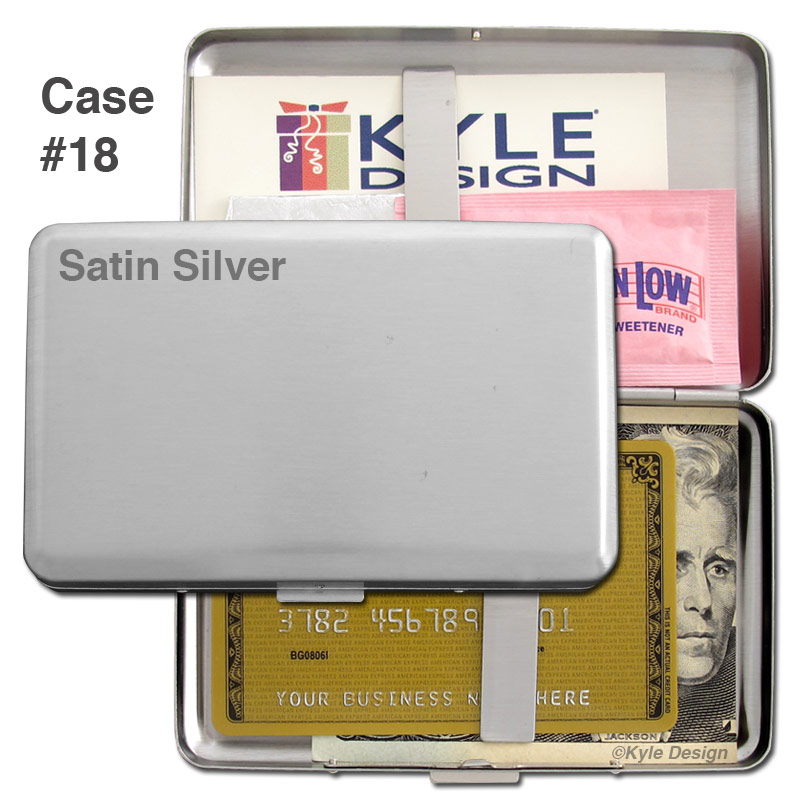 Metal wallet #18 for 16 cigarettes or 20 credit cards.