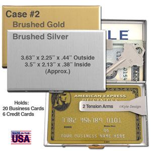 Metal Wallet for 6 Credit Cards