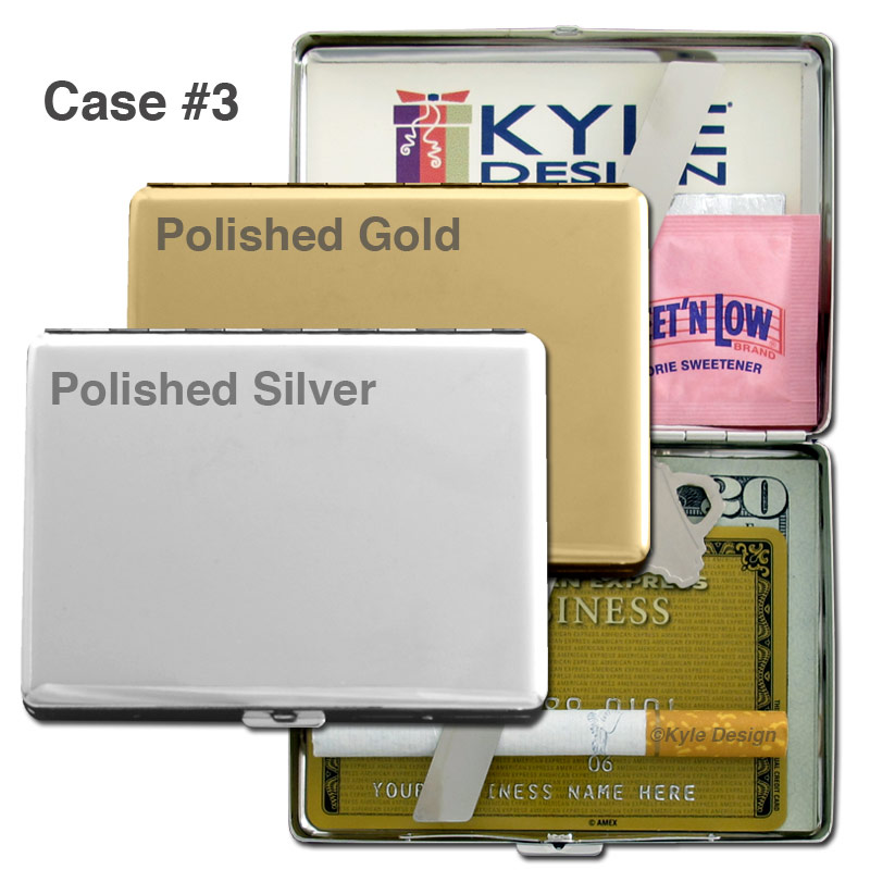 Metal wallet #3 for 15 credit cards or 16 king cigarettes.