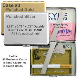 Metal wallet #3 for 15 credit cards or 16 king cigarettes.
