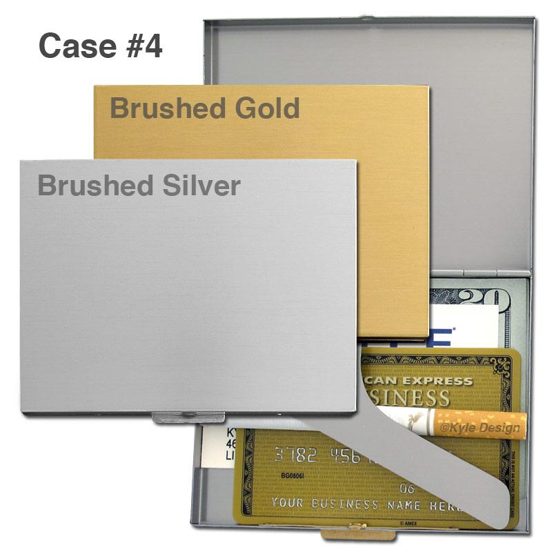 Metal wallet #4 for 9 100mm cigarettes or 10 credit cards.