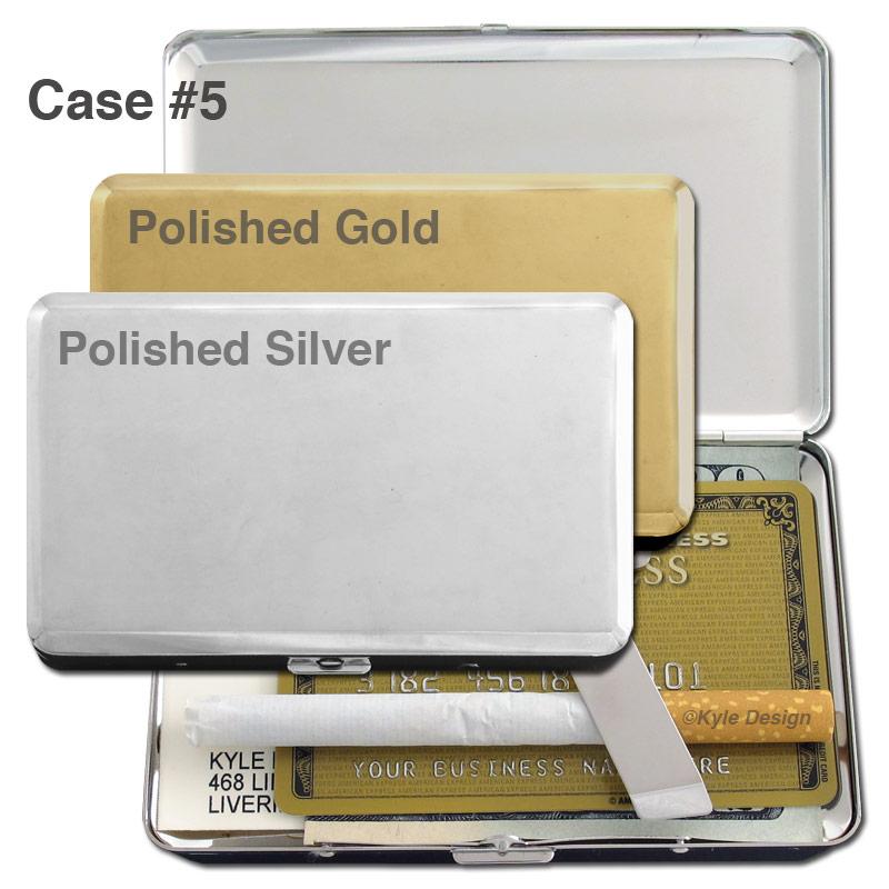 Metal wallet #5 for 9 credit cards or 8 cigarettes.