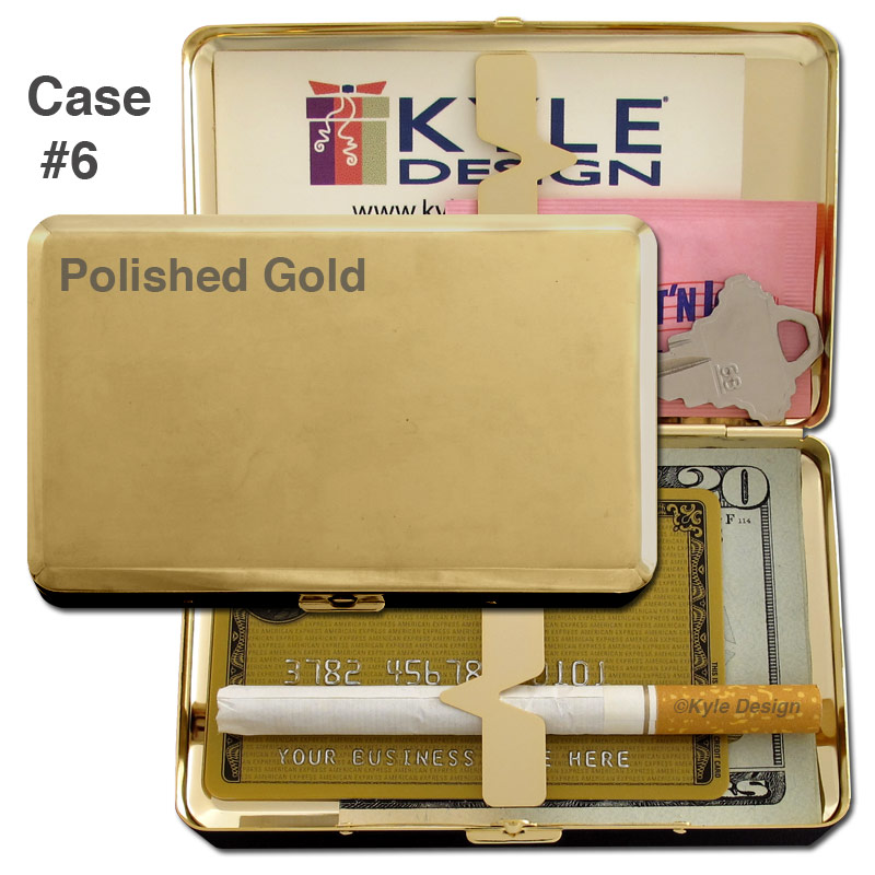 Metal wallet #6 for 16 100mm cigarettes