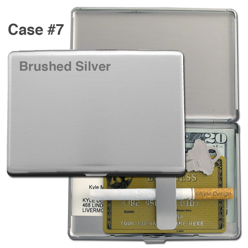 Metal wallet #7 for 10 100mm cigarettes or 8 credit cards