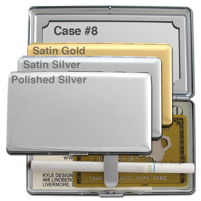 Metal wallet #8 for 8 120mm cigarettes or 7 credit cards