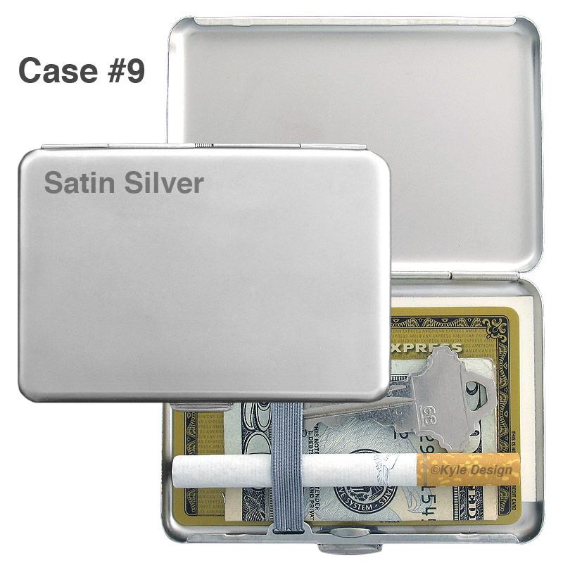 Metal wallet #9 for 7 King cigarettes or 6 credit cards
