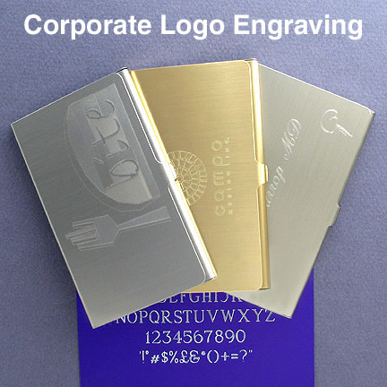 Business Logo Engraved Metal Card Cases