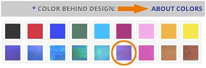 Customize your Kyle Design gift color - purple selected