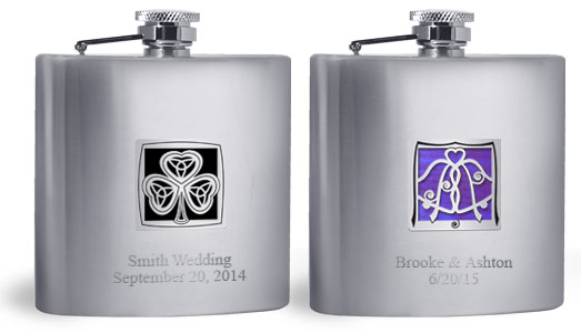 Engraved Flask - 2 Lines Below Kyle's Design