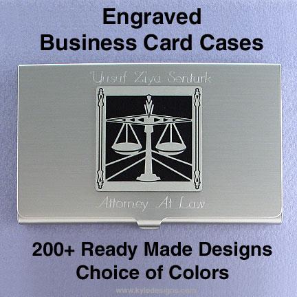 Engraved Metal Business Card Holder in Metal