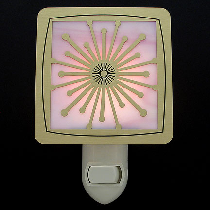 Brushed Brass and Pink Night Light - Flash
