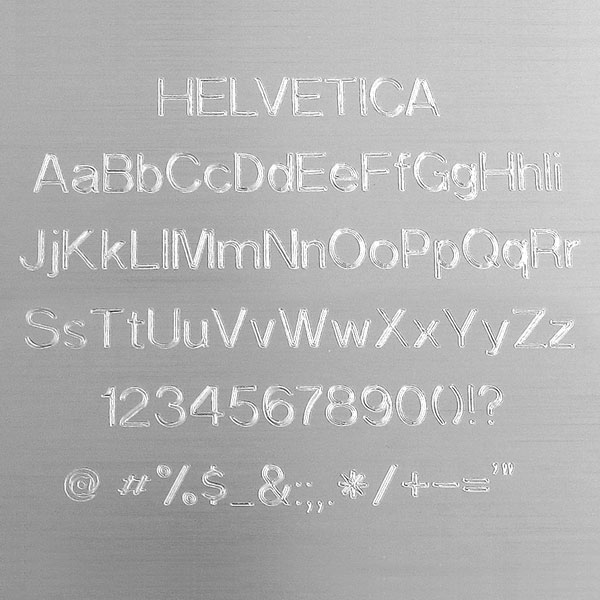 Helvetica Engraving Font - Easy to Read