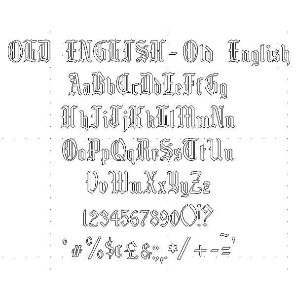 Old English Engraving Font - Very Formal