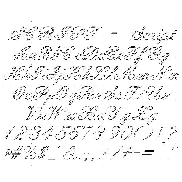 Script Engraving Font - Formal