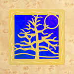 Maple - Gold - Blue Glass