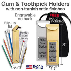 Gum Holders & Toothpick Cases