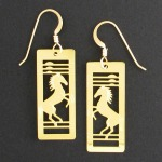 Year of the Horse Earrings for Chinese New Year Gift