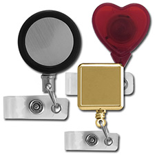 Retractable Reels - Round, Square, Heart
