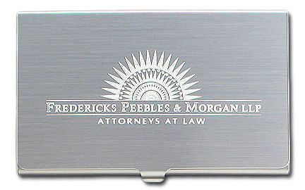 Logo engraved business card holders
