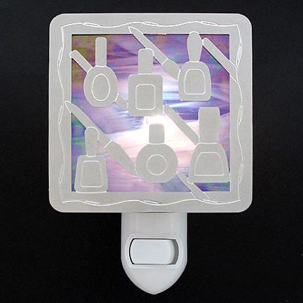 Polished Silver and Purple Night Light - Nail Polish