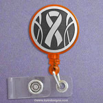 Orange Ribbon Badge Holder