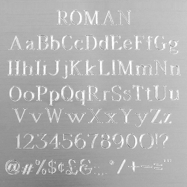 Roman Engraving Font - Most Popular