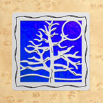 Maple - Silver - Blue Glass