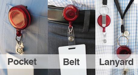 Slide Clip Badge Reel for Pocket, Belt or Lanyard
