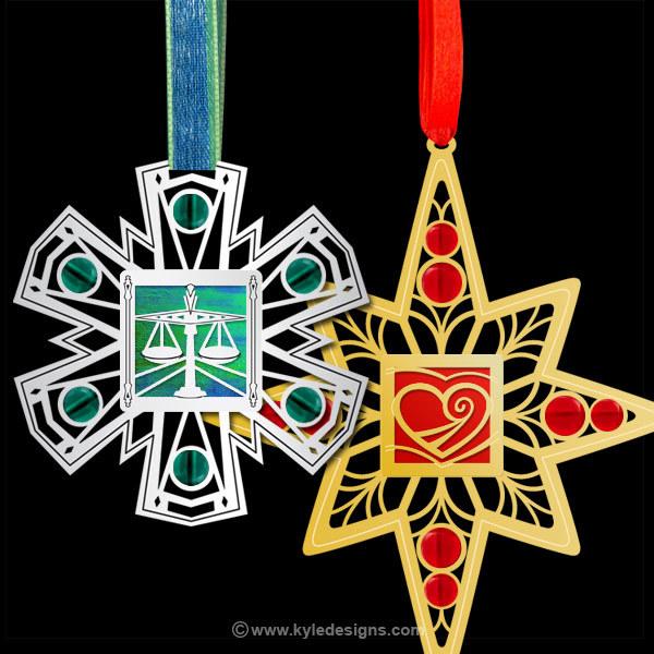 Unique Engraved Christmas Ornaments