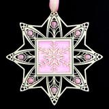 Pink Snowflake Ornament