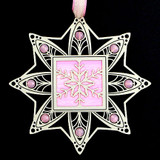 Pink Snowflake Ornament