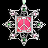 Peace Sign Christmas Tree Ornaments