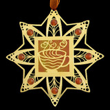 Brown & Gold Coffee Ornament