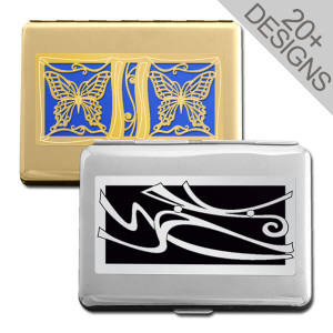 Personalized Designer Credit Card Wallets & Cigarette Cases