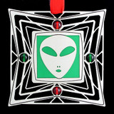 Space Alien Holiday Ornament