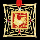 Rooster Christmas Ornament