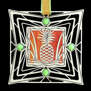 Silver Pineapple Ornament
