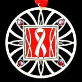 Red Ribbon Christmas Ornament