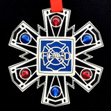 Firemen's Maltese Cross Ornament