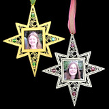 Picture Frame Christmas Ornaments with Hearts