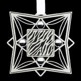Zebra Print Ornament