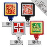 Colorful Square Badge Reels for Work