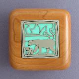 Polar Bear Wooden Engagement Ring Boxes