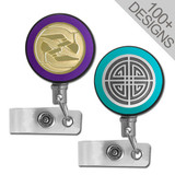 Color Name Badge Reels with Steel Cord