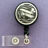 Classic Biplane ID Badge Holders