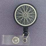 Cool Bike Wheel Retractable Name Badge Holder
