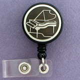 Black Piano ID Badge Holders