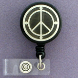 Peace Sign ID Badge Holders
