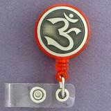 Hindu Om Retractable I.D. Badge Holder Reel
