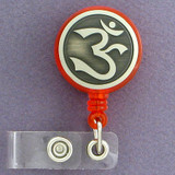 Hindu Om Retractable I.D. Badge Holder Reel